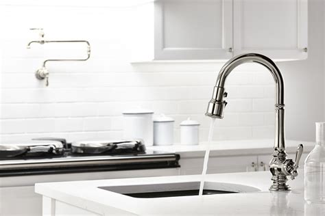 pictures of kitchen sinks and faucets faucet k 99261 vs in vibrant stainless by kohler