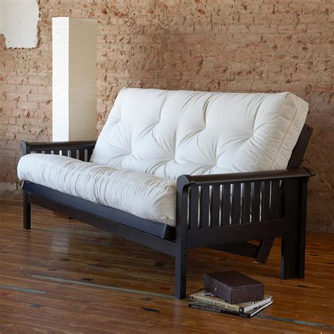 futon bed mozaic 8 inch gel memory foam futon mattress