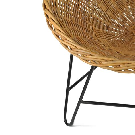 wicker basket chair wicker basket chair at 1stdibs