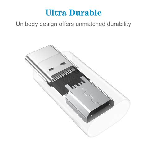 Choetech Pd 1cm Adapter Converter Micro Usb To Usb Type C Original usb c to micro usb adapter convert connector 2pack