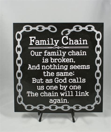 family chain memorial gift in memory of loss of