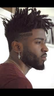 coils with a fade haircut demure short locs twist coils braids pinterest