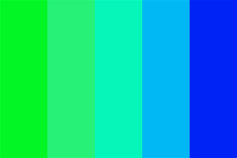 Green Blue green blue color palette