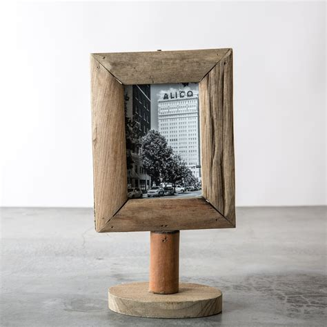 Wooden Frame 1 wood frame on stand magnolia chip joanna gaines