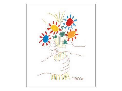 create art with mrs p kinder picasso quot hand with bouquet quot