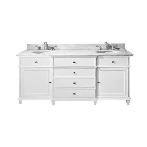 72 Inch Bathroom Vanities Home Depot Avanity 72 Inch W Sink Vanity In White