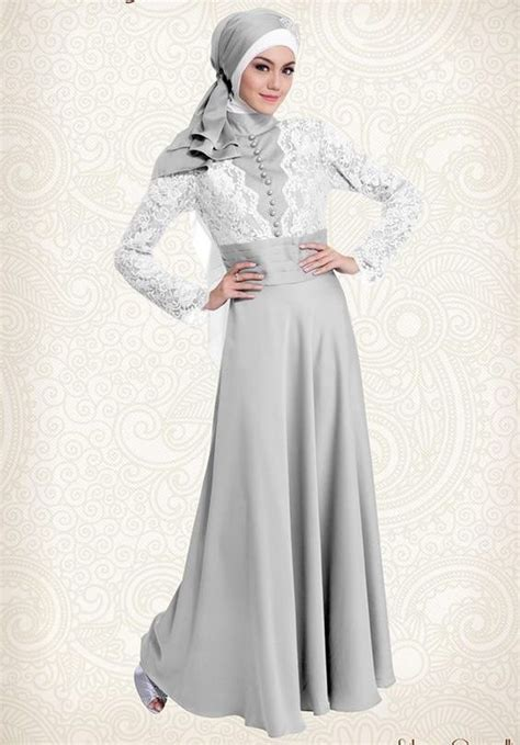 Kebaya Cavali Abu gaun gamis pesta silver cavalli yang elegan http