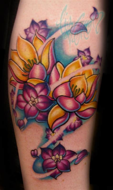 larkspur flower tattoo pictures to pin on pinterest