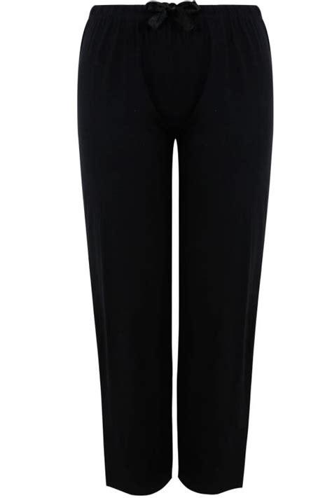 Upgrade My Vanilla Visa Gift Card - black basic cotton pyjama trousers plus size 16 to 32