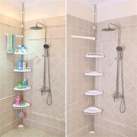 corner shower shelves unit for small bathroom