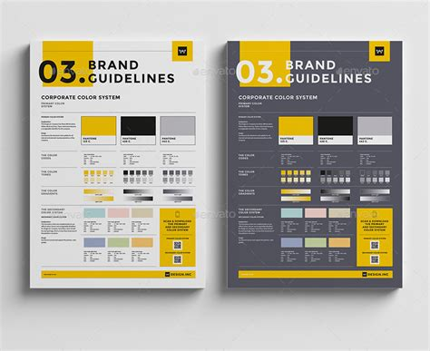 Brand Manual Template 3 Colors by egotype   GraphicRiver