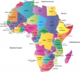 Map of africa with countries and capitals kidspressmagazine com
