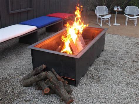 diy wood burning fireplace wood burning pit ideas hgtv