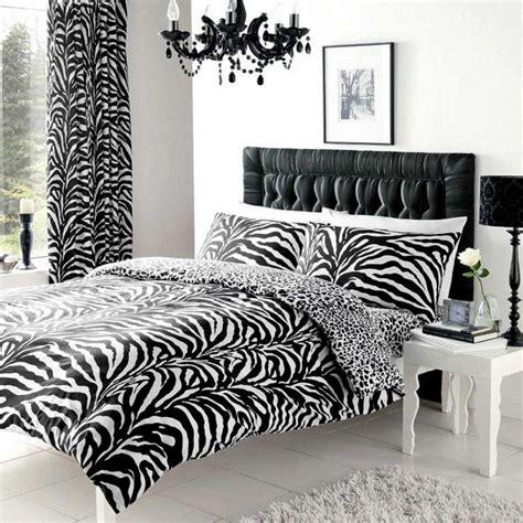 Zebra Print Bedroom Uk Zebra Print Reversible Leopard Print Duvet Cover And