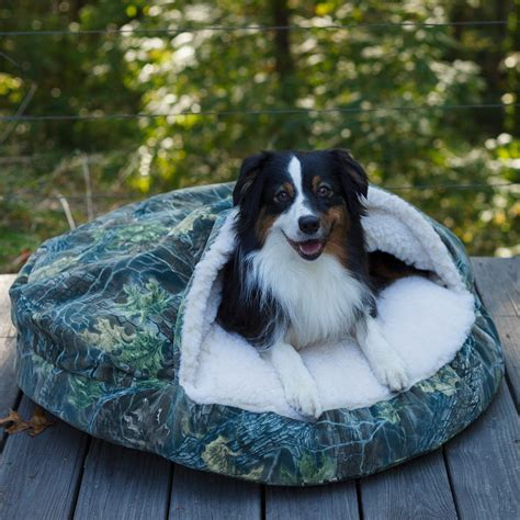 snoozer cozy cave pet bed untamed camouflage snoozer luxury orthopedic cozy cave dog