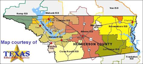 henderson county texas map school districts in henderson county texas