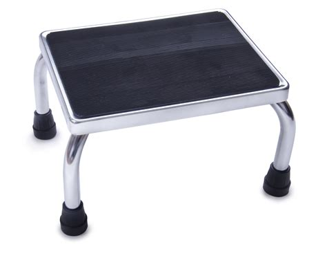 rubber st tool chrome foot stools with rubber mat careway wellness center
