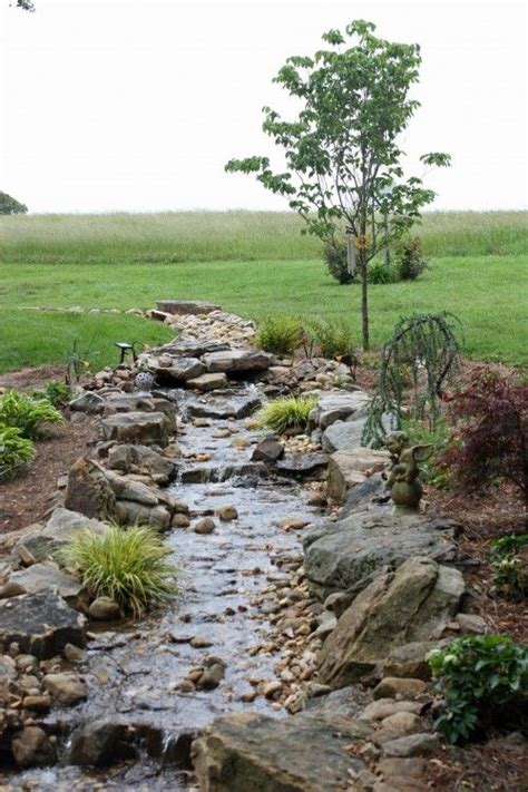 Rock Creek Garden For Water Drainage After A Would Look
