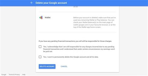 how to delete a or gmail account
