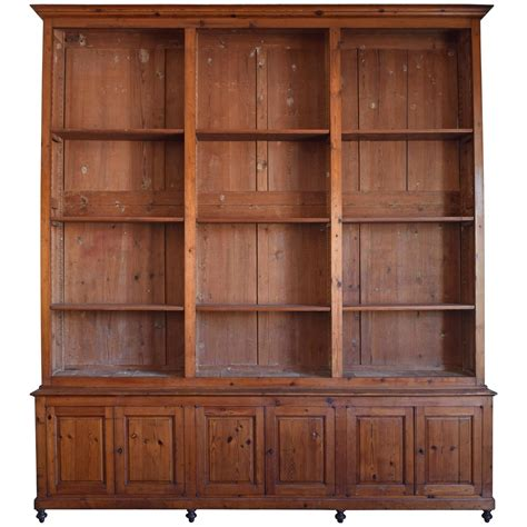 Large Bookcases For Sale Italian Circa 1870 Large Bookcase In Chestnut Open