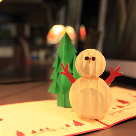 How To Make 3d Snowman Out Of Paper - popular family cards buy cheap family