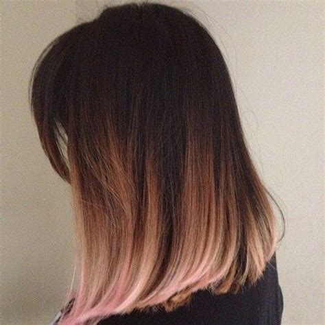 long bob with dipped ends hair 25 best ideas about brown and pink hair on pinterest