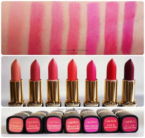 L Collectors by L Oreal La Vie En Collection Pink Lipsticks Lip Colors Nail Paints Review