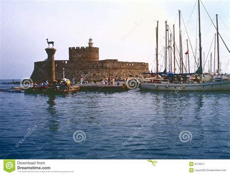 porto della grecia porto della rodi grecia fotografia stock libera da