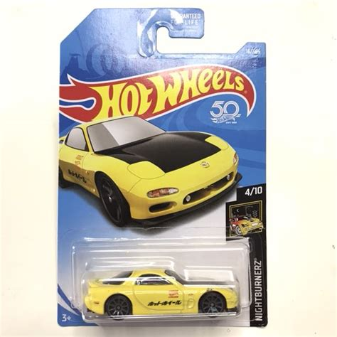 Hotwheels Wheels 95 Mazda Rx 7 Yellow Kuning wheels 95 mazda rx 7 rx7 yellow jdm wangan midnight maximum tune toys toys on