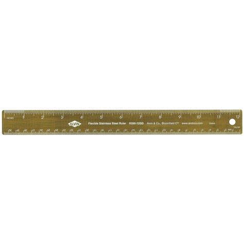 Alvin 240b Series 12 Quot by Alvin 12 Quot Stainless Steel Ruler Gold