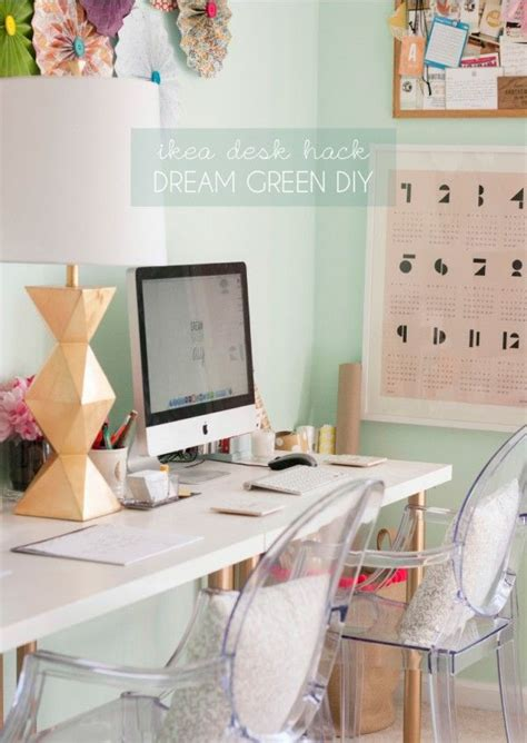 ikea legs hack ikea hack one leggy gold desk crafty pinterest