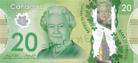 twenty five dollars polymer bank of canada