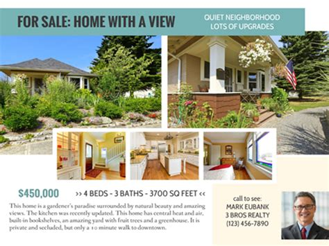 real estate listing flyer smilebox