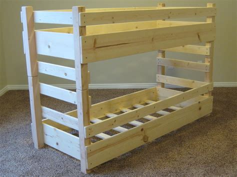 How To Make Wooden Bunk Beds Toddler Bunk Beds Fits Crib Size Mattresses Or Ikea Vinka