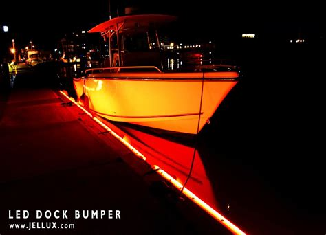 led boat bumper lights jellux led lighting led dock lights illuminated