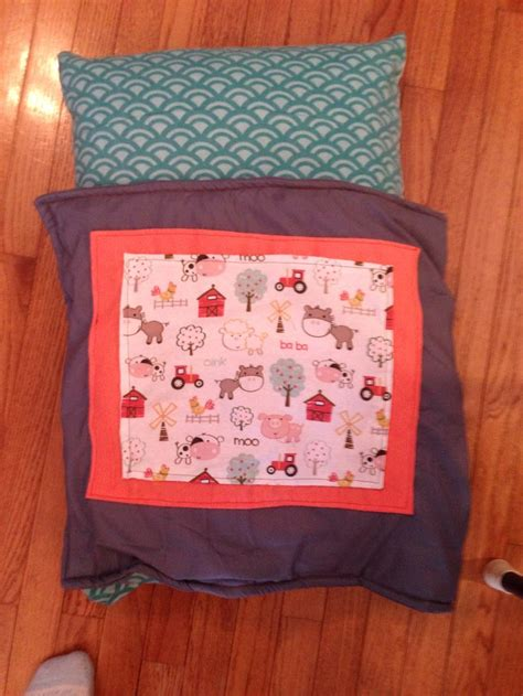 comforter batting turned a pillow into a baby travel bed replaced some