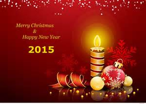 Happy new year greetings card 2015