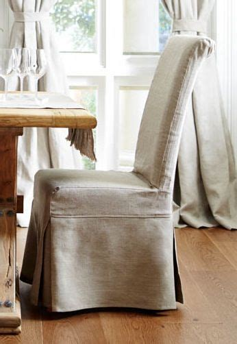 classic french style  linen slipcovered dining chair
