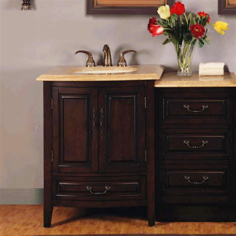 5 sink vanity 46 5 inch single sink bathroom vanity with led travertine