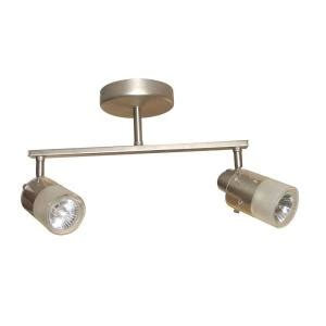 Wall Track Lighting Fixtures Hton Bay 2 Light Brushed Steel Ceiling Wall Bar Track Lighting Fixture Ec354ba The Home Depot