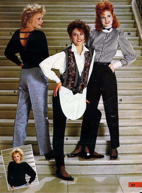 Wardrobe Womens Clothes by 1980s Fashion Styles Trends Pictures