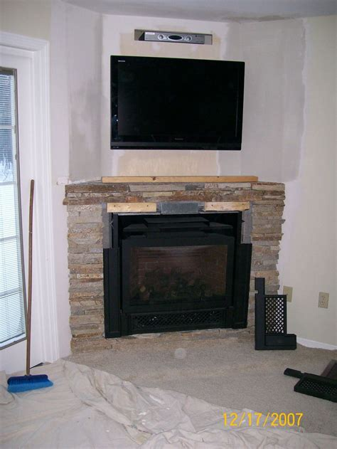 Corner Fireplaces And Finally A Gas Fireplace In An Tv With Fireplace