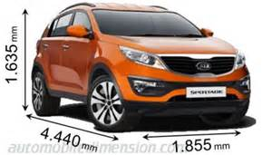 Kia Sportage Width Dimensions Of Kia Cars Showing Length Width And Height