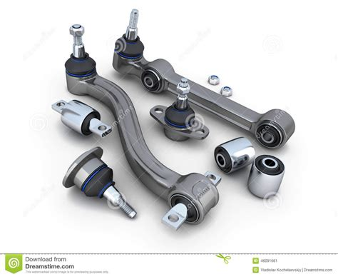 car suspension suspension arm and ball joint car stock illustration