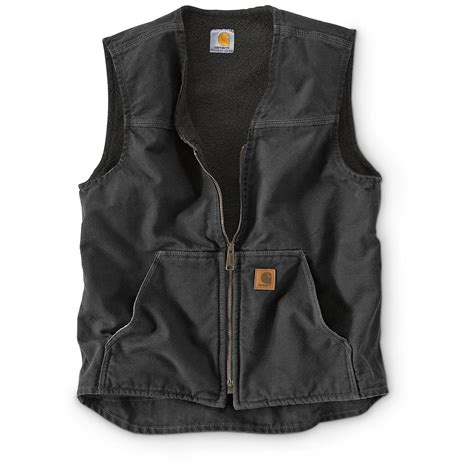 carhartt rugged vest carhartt s rugged sherpa lined vest 655006 vests at sportsman s guide