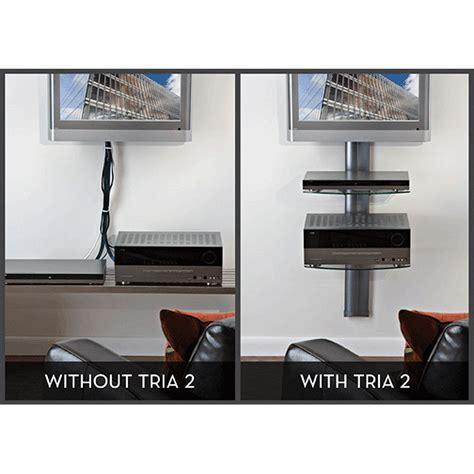 Tv Mount Shelf System by Omnimount Tria Series 2 Glass Shelf Wall System Black Tria2