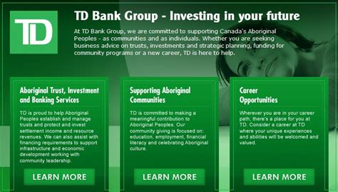 Td Bank Indigenous Lands Resources Today