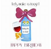 Happy Birthday Wine Toast Free ECards