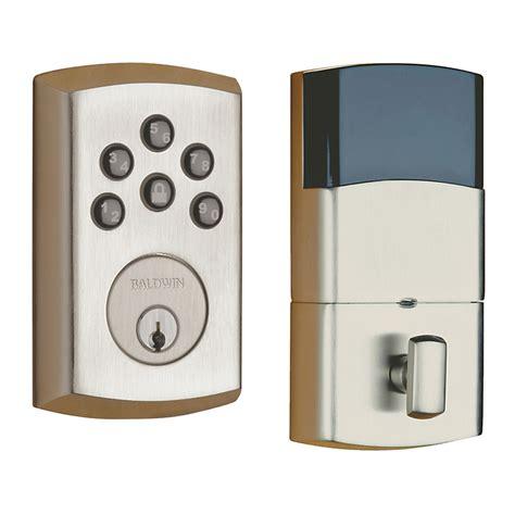 Keyless Door Entry by Baldwin 8285 056 Ac1 Lifetime Satin Nickel Soho Keyless