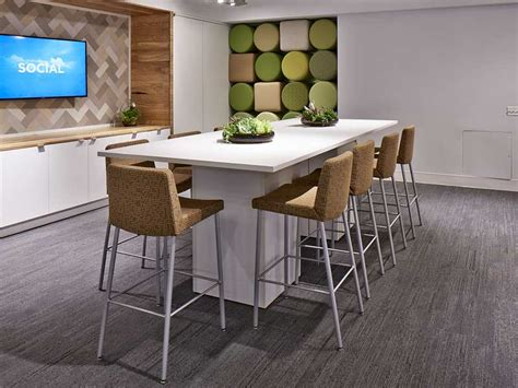 Bar Height Meeting Table Breakroom And Lunchroom Furniture Los Angeles Office Furniture Crest Office Furniture